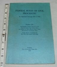 Federal Rules Of Civil Procedure As Amended Through July 1, 1963