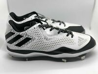 Adidas White/Black Baseball Spikes/Cleats Power Alley Size 10.5