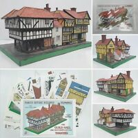 GUILD HALL & DICK TURPIN'S COTTAGE THAXTED A5 FULL COLOUR CUT OUT CARD MODEL KIT