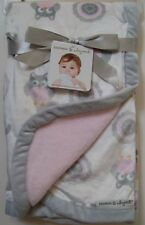 2ce3951ea4 Girls Blankets and Beyond Pink Gray White Elephant Owl Soft Baby Blanket