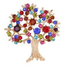 Broche de árbol de Vida Alfiler de Rhinestone Regalo de Boda para Mujeres