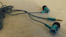 ENERGY SISTEM METALLIC BLUE In-Ear Headphone WITH CLOTH COVERED TANGLE FREE CORD