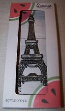Summer Entertaining EIFFEL TOWER Flat Cast Iron Bottle Opener SILVER ~NEW IN BOX