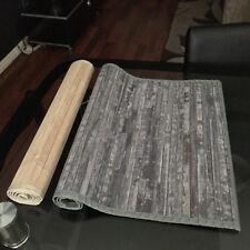 BAMBOO WOOD ANTI SLIP BATH SHOWER FLOOR MAT 80X50CM LONG BATHMAT FULLY LINED