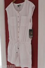 NWT LRL Lauren Jeans Co. Ralph Lauren White Cotton Tencel Short Romper 14 $125