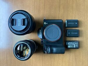 Sony Alpha A7S II 12.2MP Digital Camera - Black (Used) with two Lenses!!