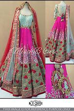 Asiatico Matrimonio Designer Lehenga CHOLI Bollywood Alla Moda Stile Lavoro Party Wear
