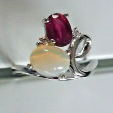 Opal & Ruby Ring size 9