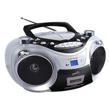 Supersonic SC-739BT Portable CD/MP3/Cassette Player +Bluetooth +USB/AUX/AM/FM