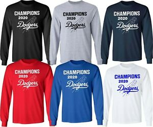 Los Angeles Dodgers LA 2020 World Series Champions Multi CLR Long Sleeve   S-4XL