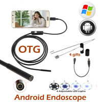 Endoscope Waterproof Snake Borescope USB Inspection Camera For Android Phone PC