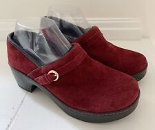 """LANDS END Women's""""Camden Classic""""Suede Shoes Size 7 Burgundy Red"""