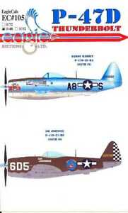 EagleCals Decals 1/48 REPUBLIC P-47D THUNDERBOLT Daddy Rabbit & Oh Johnnie