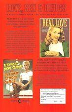 ECLIPSE COMICS 1989 FLYER - LOVE SEX & DRUGS b/w DR WATCHSTOP ADVENTURES