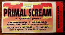 PRIMAL SCREAM @ Rolling Stone Milano Italy 1988 TICKET