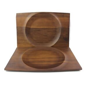 Acacia Wood Rectangle Chargers Set of 2 Market Street New York Corelle