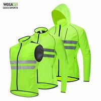 Men's Cycling Jacket Windproof Reflective Vest Bicycle MTB Bike Jerseys Green