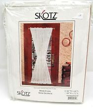 Skotz off white door panel curtain with tie back 60 x 40 New