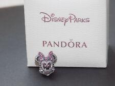 Genuine PANDORA Silver Disney Limited Edition Minnie Mouse Sparkling Icon Charm