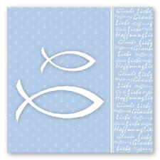 20 Servietten Fische hellblau Glaube Liebe Hoffnung Kommunion Taufe Konfirmation