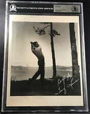 TONY LEMA 1964 BRITISH OPEN WINNER AUTOGRAPHED SIGNED PHOTO BECKETT BAS DEC 1966