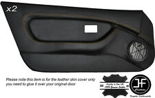 YELLOW STICH 2X FULL DOOR CARD TRIM LEATHER COVERS FITS MG MGF MK1 95-99 STYLE 2
