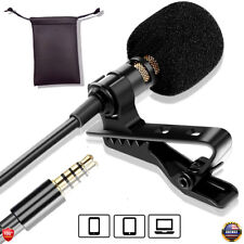 Professional Lavalier Lapel Microphone Omnidirectional for Smartphone Mic+Pouch