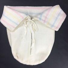 Vintage Baby Bunting Blanket Acrylic Waterproof Plastic Lining Zipper Pastel