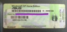 Windows XP Home Edition-product key asus a6000