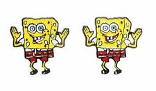 Spongebob Squarepants Character Metal Enamel Stud Earrings