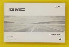 Terrain SUV S U V 11 2011 GMC G M C Owners Owner's Manual OEM Genuine GM
