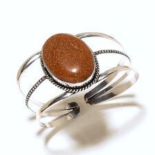 Sunstone Silver Plated Cuff Jewellery