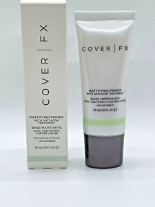 COVER FX Mattifying Primer With Anti-Acne Treatment 1oz/30ml FULL SIZE ~ SEALED!