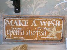 """Make A Wish"" Sign - Custom Wooden Sign - Beach Decor - Coastal Home Decor - Nj"