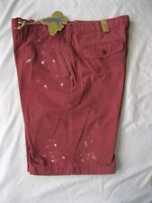 Banana Split USA Paint Splattered Shorts Walking / Casual Red NEW Size 36 NWT