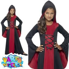 Halloween Fancy Dress Girls Hooded Vamp Robe Costume Vampire Outfit by Smiffys Medium