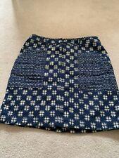 white stuff skirt size 12 Blue Patterned