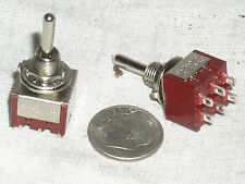 2 NEW DPDT ON-OFF-ON MOMENTARY MINI TOGGLE PROJECT SWITCH 6 A AMP 6A MOM-OFF-MOM