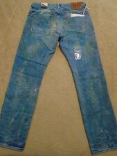 PRPS BARRACUDA Mens Indigo Mud Stains Faded Splattered Dirty Jeans 42 Orig $395+