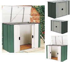 Metal Garden Storage Unit Bike Shed Outdoor Box Yard Patio Garage Cabinet Tools