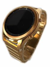 24K GOLD Plated Samsung Gear S3 Classic Modern Gold Link Band Smart Watch