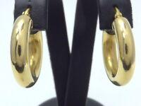 Ohrringe earrings 750 GOLD boucle oreille 18 Karat Kreolen Creolen Art Deco oro