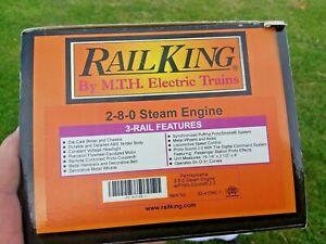 MTH O Railking Pennsylvania 2-8-0 Steam Engine PS2.0 Sounds 30-4137-1