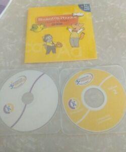 Hooked on Phonics Kindergarten CD's- Yellow 2, White + user guide Homeschooling