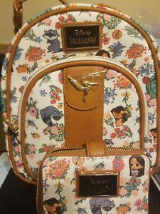 Her Universe Disney Princess Pocahontas Chibi Canvas Mini Backpack Wallet Meeko