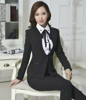Fashion Women's Ladies Office Uniform Business Vest Waistcoat Skirt Suit Pants