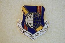 US USA USAF 23rd Air Force Military Hat Lapel Pin