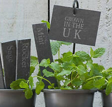 BNIB- x2 'Grown in the UK' slate tags for plants,vegetables,fruit..(6 available)