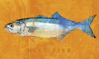 FISH FISHING ART PRINT - Bluefish by John Golden Poster