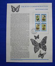 Palau (121B - 121E) 1987 Butterflies Souvenir Page